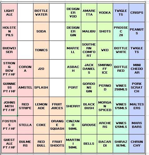 Casio SEC450 Blank Keyboard Template (in Excel)